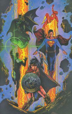Justice League Vol. - Ŧꃅᙍ ꍏ尺Ϯ Ծ₣ ੮ℌΣ Շ⊕√乇Ɽ Travis Charest, Justice League Comics, Justice League Unlimited, Different Art Styles, Comic Kunst, Dc Comic Books, Dc Comics Art, Batman Comics, Cover Art