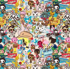 All over patterns for tokidoki Sanrio Wallpaper, Hello Kitty Wallpaper, Emoji Wallpaper, Galaxy Wallpaper, Kawaii Chibi, Anime Chibi, Kawaii Drawings, Doodle Drawings, Japanese Graphic Design