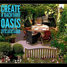 Your home is your sanctuary!  Turn your backyard into the perfect #staycation spot with potted plants and plenty of color! Add some seating and lighting, and you're ready to relax with friends and family. Learn more about #homeownership at www.mgmt-assoc.com. 813.433.2000 #Backyard #Family #Home