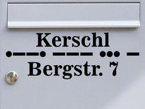 Adresse 03 - Morsecode Briefkastentattoo