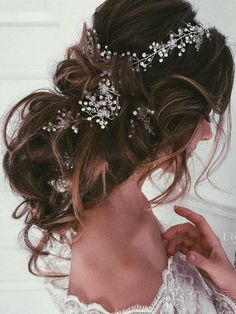 Ulyana Aster Long Wedding Hairstyles & Updos 10 / http://www.deerpearlflowers.com/romantic-bridal-wedding-hairstyles/3/