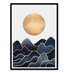 Art-Poster 50 x 70 cm - Waves - Elisabeth Fredriksson - Geometric Design Illustration. Art-Poster and prints published by Wall Editions.