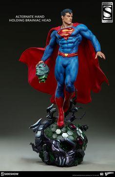 DC Comics Superman Premium Format(TM) Figure by Sideshow Col Superman Art, Superman Man Of Steel, Superman Figure, Marvel Dc, Dc Comics, Predator Action Figures, Game Character Design, Sideshow Collectibles, Anime Figures