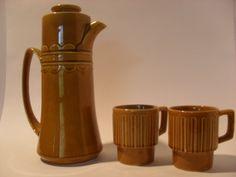 Mid Century Ceramic glazed pitcher and mugs by CircaCompany, $19.75