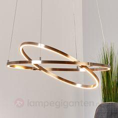 Justerbar, ringformet LED-hengelampe Torna. Bestilles enkelt og trygt hos Lampegiganten.no
