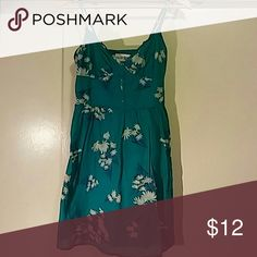 Forever 21 Teal Dress Cute lightweight sundress by F21. The colour is a bright teal. It has a smocked back for extra stretch. Size: M. Forever 21 Dresses Mini