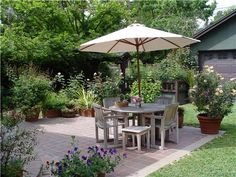 pretty; Simple Patio, Square Patio  Small Yard Landscaping  Maureen Gilmer  Morongo Valley, CA