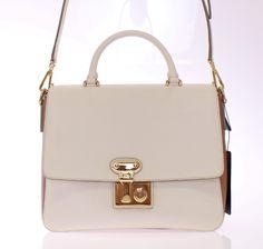 e921929db673 White Miss Linda Leather Shoulder Bag. Modemani Outlet · Dolce   Gabbana  Bags