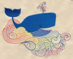 All's Whale   Urban Threads: Unique and Awesome Embroidery Designs
