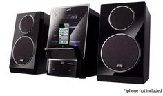 $99.99 4/2/2012 Only. JVC CD Micro Component System w/ iPod Flip Dock, 2-Way Bass Reflex Speakers, Digital Tuner & MP3/WMA Support