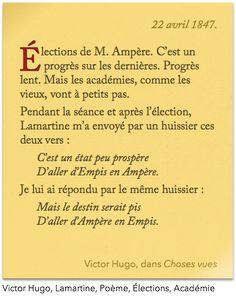 Victor Hugo et Lamartine parlent des dernières élections. (c/c depuis Choses vues de Victor Hugo)
