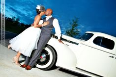 African American Wedding/ African American Couple/ Intimate kiss on car - Mint Springs Farms - Weddingsbyroland.com
