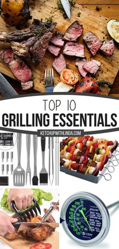 Think you have everything you need for grilling up delicious food? Check out the Top 10 Grilling Essentials! Whether you are grilling for one or for a crowd, this roundup of accessories that you should have in handy will help make your summer barbecue ideas easier! Homemade Barbecue Sauce, Barbecue Recipes, Grilling Recipes, Cooking Recipes, Healthy Recipes, Easy Recipes, Healthy Food, Easy Family Meals, Easy Meals