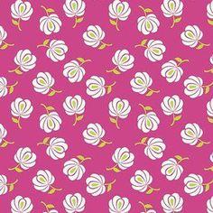 Patty Young - Primavera - Primavera Buds in Pink, spring espadrilles Fabric Patterns, Sewing Patterns, Batik Pattern, Modern Fabric, Fabric Design, Texture, Wallpaper, Creative, Pink