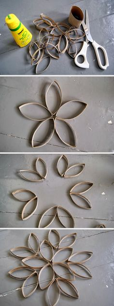 Décoration facile à partir de rouleaux de papier de toilette