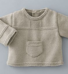 New knitting baby pullover beautiful Ideas Baby Knitting Patterns, Baby Sweater Knitting Pattern, Baby Boy Knitting, Knit Baby Sweaters, Knitted Baby Clothes, Knitting For Kids, Baby Patterns, Baby Knits, Knit Or Crochet