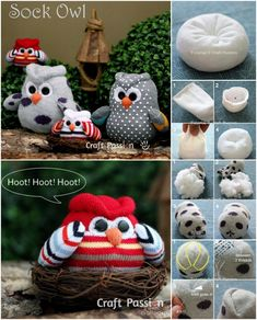 How to DIY Sock Owls