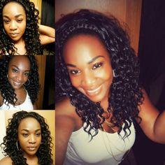 Custom wig curly hair