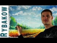 ▶ How to oil paint SUNNY LANDSCAPE - Full oil painting lessons - YouTube- interesting approach