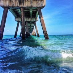 Under the dock in at Deerfield Beach in Florida. Photo courtesy of jenntormo on Instagram.