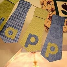 Father's Day Tie Banner {Fathers Day Projects for Kids} - Tip Junkie