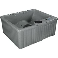 Essential Hot Tubs - Newport - 14 Jets, Lounger Rotationally Molded, Grey Granite
