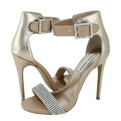 Sonka - Steve Madden Women's sandals made of synthetic leather with synthetic lining, synthetic outsole and a heel height of 12 cm. Available in color Nude-Gold. Stiletto Heels, High Heels, Steve Madden, Women's Sandals, Leather, Shoes, Online Shopping, Color, Nude
