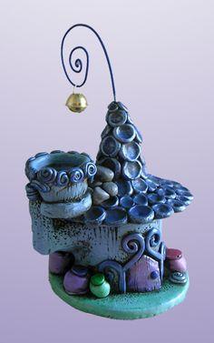 Attirafate dell' Acqua by Creazioni Del Re Polymer Clay Fairy, Fimo Clay, Polymer Clay Creations, Polymer Clay Crafts, Clay Fairy House, Fairy Houses, Cactus E Suculentas, Biscuit, Clay Fairies