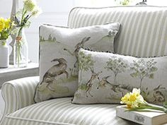 Milton Sofa with Country Cushions