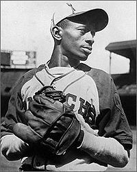 "Leroy Robert ""Satchel"" Paige was an American baseball player whose pitching in the Negro leagues and in Major League Baseball (MLB). He was elected to the Baseball Hall of Fame in American Baseball League, Negro League Baseball, Baseball Players, Baseball Uniforms, American League, Baseball Jerseys, Dodgers, Paige Photos, Sports Stars"