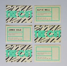The Cut - Barber shop Business Cards by Lucia Soto