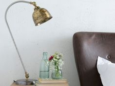 Our lovely vintage style Gaston brass lamp is handsome and a little bit different. It is ready to be loved for years to come in a nice Loaf home.