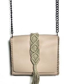 """Vanity mini"" nude pink bag Mini Bag, Hand Stitching, Vanity, Nude, Urban, Shoulder Bag, Detail, Pink, Leather"