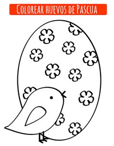 Huevo pascua para pintar Holiday Activities, Craft Activities, Spanish Holidays, Here Comes Peter Cottontail, Happy Easter, Easter Eggs, Art For Kids, Coloring Pages, Kids Rugs