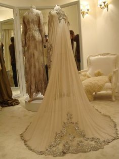 If I didnt have a design already, this would have been the perfect Hijab Wedding dress