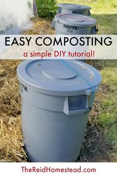 Learn how to compost with this simple, easy, DIY composting method! In this article is a simple tutorial on how to compost at home! ~The Reid Homestead #compost #composting #gardentips #gardening #gardenhacks