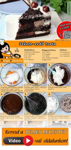The classic Black Forest cake fits on every cake buffet. The Black Forest Cake Recipe Video is easy to find using the QR code :) Forest cake bake Nutella Recipes, Cookie Recipes, Dessert Recipes, Easy Delicious Recipes, Sweet Recipes, Yummy Food, Dessert Oreo, German Baking, Black Forest Cake