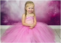 Newborn Size 9 Sparkly Glitter Pink Tutu Dress by krystalhylton