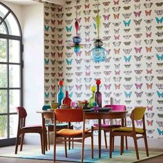 On-trend butterfly wallpaper in fab jewel colours harlequin.uk.com-Amazilia-Papillo-wallpaper-£56-a-roll.jpg