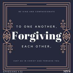 NIV Verse of the Day: Ephesians 4:32