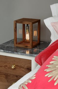 Swop out a tired bedside lamp for something a little more stylish like our Small Memoria Lamp II. Bedside Lamps Diy, Table Lamps For Bedroom, Room Lamp, Diy Lamps, Large Floor Lamp, Floor Lamps, Woodworking Ideas Table, Wooden Table Lamps, I Love Lamp