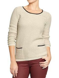 Women's Chunky Textured Sweaters | Old Navy $40