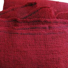 Crimson Red Jute Cloth - 36 inches wide