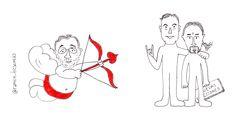 ¡Feliz #DiaDeLosEnamorados! Pero ya sabéis... lo inventó el #CorteInglés (o #Rajoy, ¡quién sabe!) #doodle #ilustración #viñeta