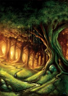 the-forest-of-the-faun: Tree dwelling. by JasonHeeley Fantasy Landscape, Landscape Art, Fantasy Art, Fantasy Trees, Forest Illustration, Magical Forest, Dark Forest, Photoshop, Fantasy Places