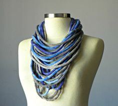 Knitted tube Infinity scarf fiber necklace loop by yarnisland, $18.00