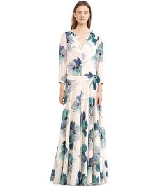 Modest maxi dress with sleeves | Shop Mode-sty #nolayering JULIA CAFTAN by Tory Burch