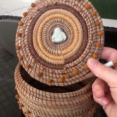 Pine Needle Basket Purse - in process.... A few more rows on the lid..planning on adding a clasp and handle