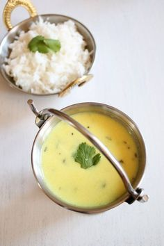 Gujarati Kadhi: Whisk 200 gm yogurt with 20 gm besan, 20 gm jaggery ( gud), salt and some water. Put it to boil on high flame stirring all the while to avoid forming lumps. Once it starts to boil, lower the heat. Meanwhile heat 30 gms ghee, put  hing,  mustard and cumin seeds. Add a little ginger paste, 1 or2 slit green chilies, cloves and some curry leaves and pour it over kadhi, let it simmer for a while.Join us at:https://www.facebook.com/groups/JRCSpices/ ‪#‎JRCSpices‬ ‪#‎Spices‬…
