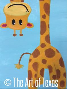 Peek-A-Boo Giraffe painting | The Art of Texas Kids | Midland, Texas